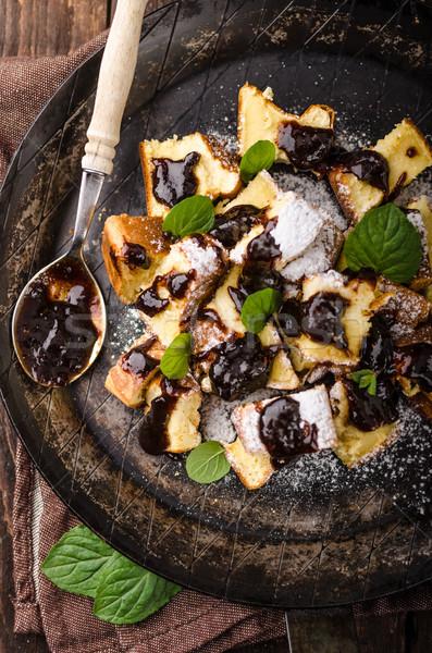 Palacsinták desszert szilva étel fotózás stock Stock fotó © Peteer
