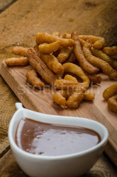 チョコレート ディップ 食品 深い フライド ストックフォト © Peteer