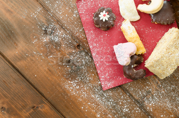 Christmas candy with pinecone in punnet Stock photo © Peteer