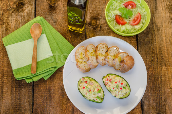Recheado abacate fresco comida fundo Foto stock © Peteer