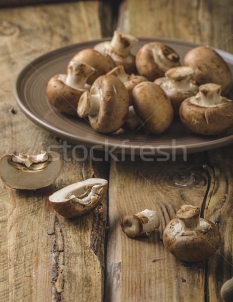 Сток-фото: домашний · органический · грибы · простой · расти