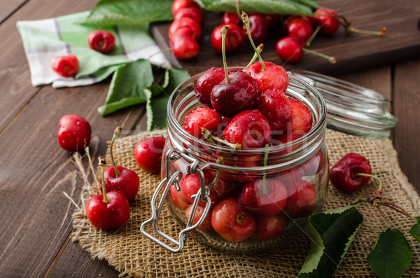 Freshly picked cherries Stock photo © Peteer