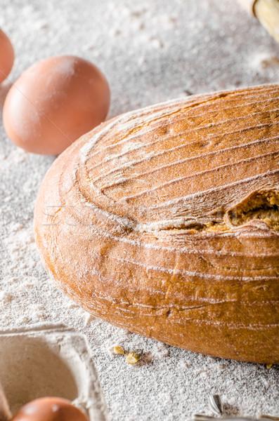 Sourdough bread cumin Stock photo © Peteer
