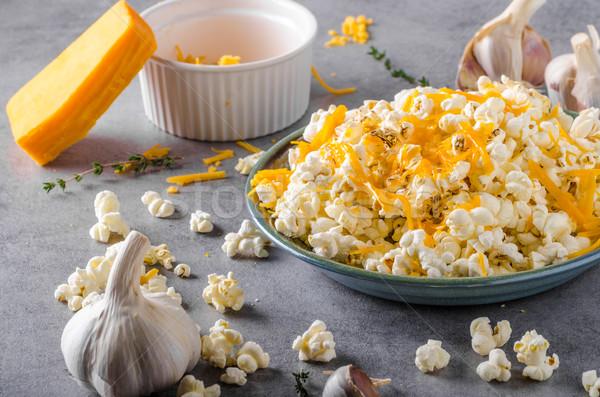 Homemade cheese popcorn Stock photo © Peteer