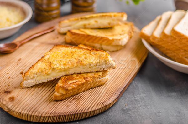 Käse Sandwich gegrillt einfache schnell Essen Stock foto © Peteer