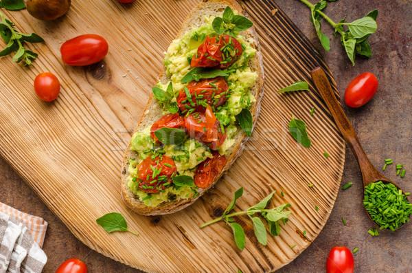 Avocado spread with tomatoes Stock photo © Peteer