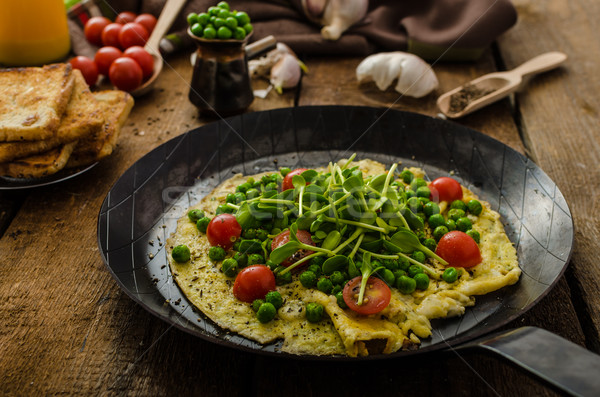 Healthy omelet with vegetables Stock photo © Peteer