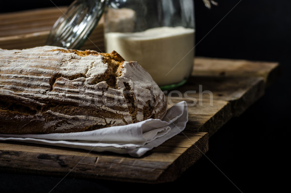 Home-baked sourdough bread Stock photo © Peteer