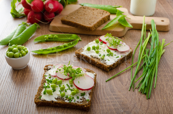Healthy wholemeal bread with herbs Stock photo © Peteer