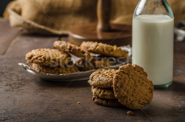Stock photo: Cookies with peanut butter wholegrain