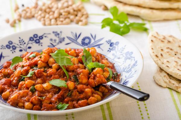 Spinazie kerrie vers gezonde kruiden voedsel Stockfoto © Peteer