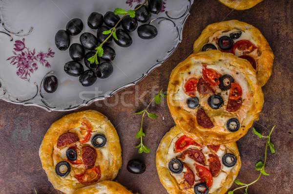Mini sosis çedar peynir lezzetli lezzetli Stok fotoğraf © Peteer