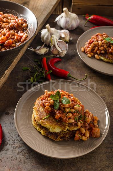 Süt bab krumpli torták bolyhos fűszeres Stock fotó © Peteer