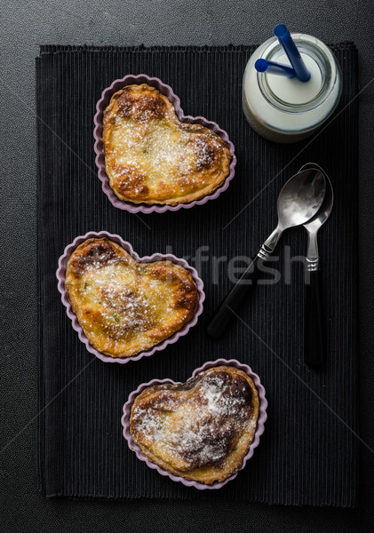 Saint valentin mini tarte citron propre noir Photo stock © Peteer
