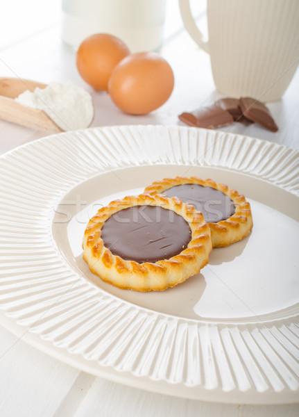 Homemade chocolate biscuit Stock photo © Peteer