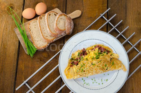 бекон сыра домой хлеб дома дерево Сток-фото © Peteer