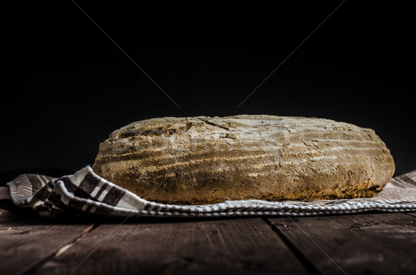 Home gebakken brood rogge rustiek plaats Stockfoto © Peteer