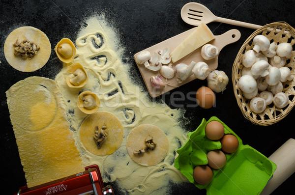パスタ イタリア語 小麦粉 バイオ 卵 ストックフォト © Peteer