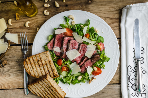 Rump steak with spicy herb butter Stock photo © Peteer
