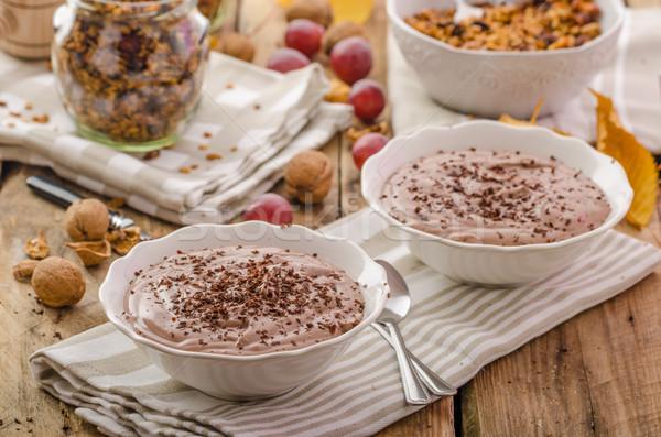 шоколадом пудинг гранола начала Сток-фото © Peteer