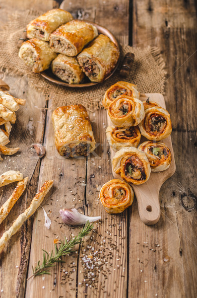 Sticks puff pastry Stock photo © Peteer