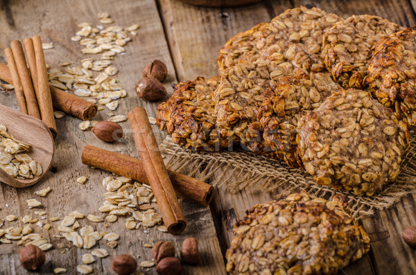 Oatmeal cookies with banana and cinnamon Stock photo © Peteer