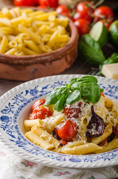 Pasta with baked vegetable Stock photo © Peteer