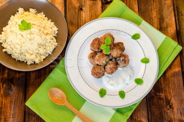 Beef meatballs with cilantro Stock photo © Peteer