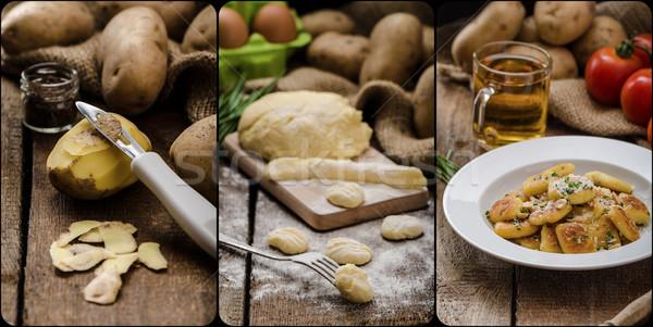 Ev yapımı patates fındık parma'ya ait parmesan peyniri taze Stok fotoğraf © Peteer