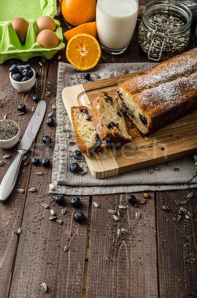 черника йогурт Sweet хлеб семени bio Сток-фото © Peteer