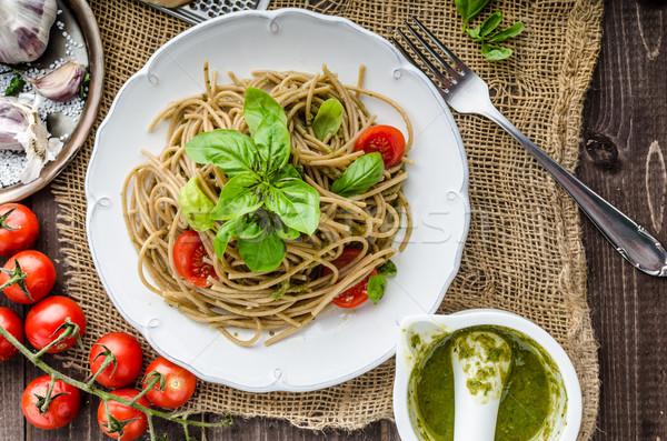 Pasta with Milan pesto Stock photo © Peteer