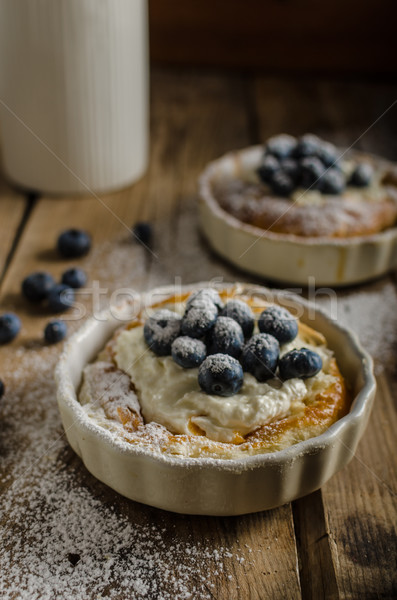 Rustic style cheesecake Stock photo © Peteer