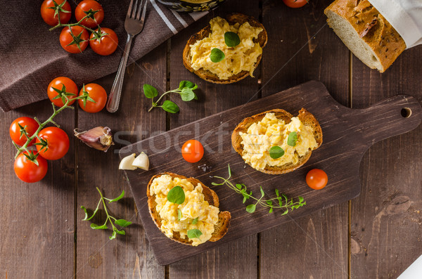 Herbes ail grillé pain délicieux Photo stock © Peteer