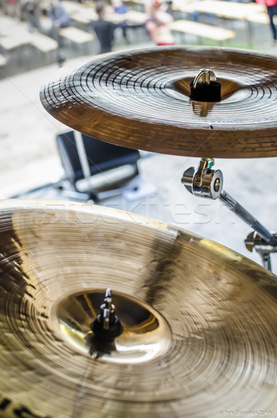 Stock photo: Band drums real concert