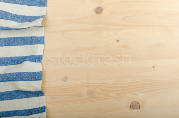 Kitchen cloth on wood background Stock photo © Peteer