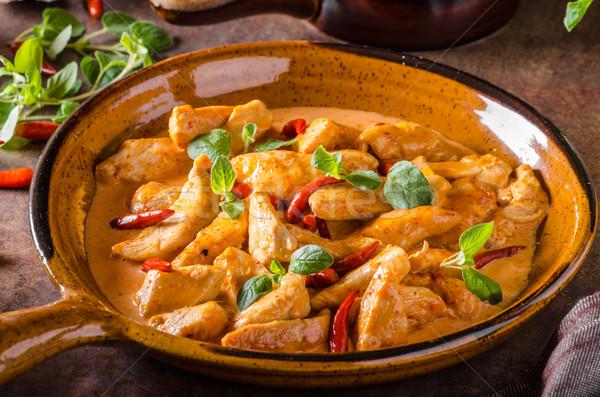 Delicioso caril caseiro pequeno picante pimentas Foto stock © Peteer