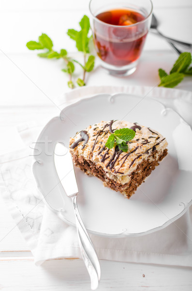 Stok fotoğraf: çikolata · kek · lezzetli · yumurta · fındık · gıda