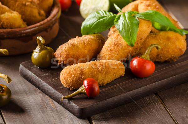 Сток-фото: домашний · картофеля · сыра · чили · простой · продовольствие