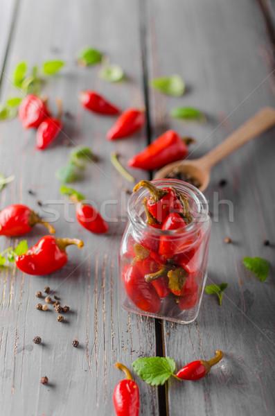 Fresco pimenta pimenta tigela ervas natureza Foto stock © Peteer