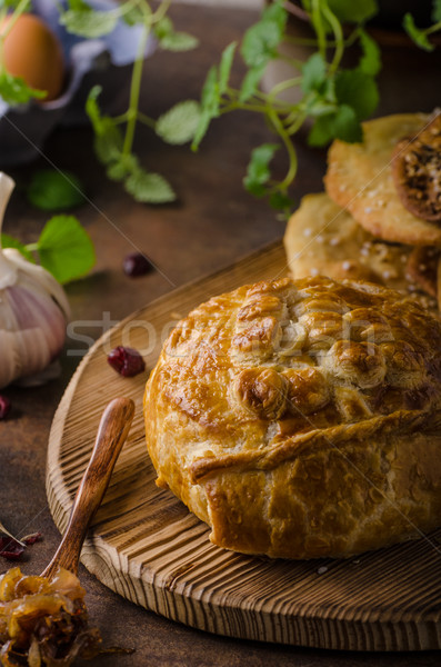 Puff pastry stuffed by camembert Stock photo © Peteer