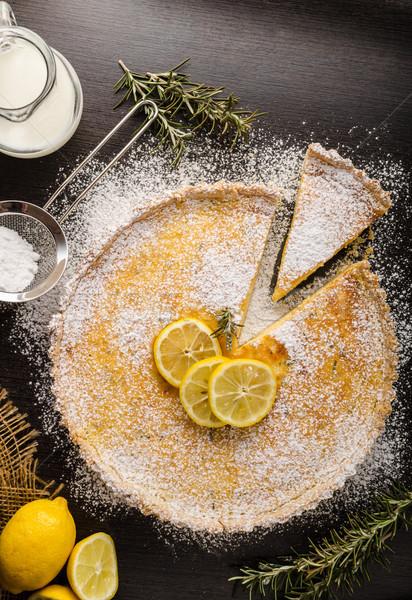 Taart heerlijk dessert plaats tekst voedsel Stockfoto © Peteer