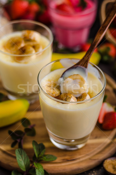 Plátano foto simple postre alimentos fondo Foto stock © Peteer