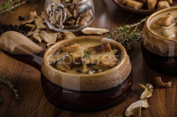 Сток-фото: деревенский · грибы · суп · чешский · лес · свежие