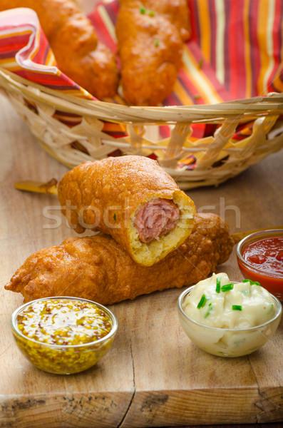 Homade Corn dog Stock photo © Peteer