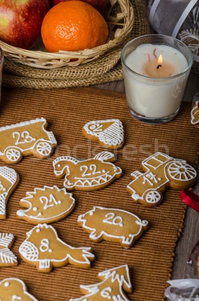 пряничный приход календаря домашний любви продовольствие Сток-фото © Peteer