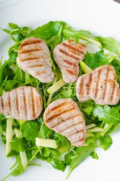 Grilled pork tenderloin Stock photo © Peteer