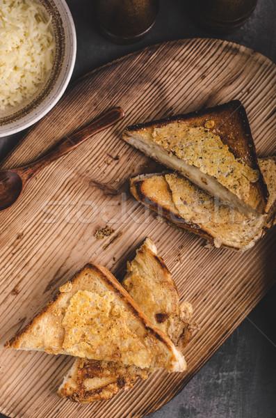 Sajt szendvics grillezett egyszerű gyors étel Stock fotó © Peteer