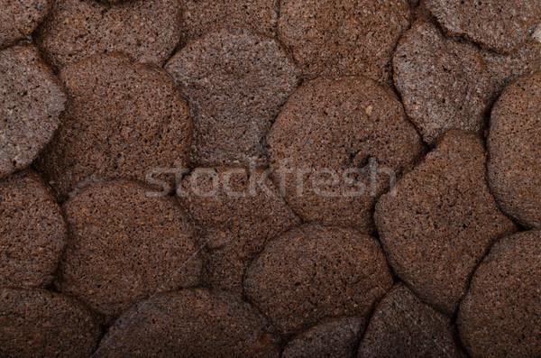 Pure chocola biscuits eigengemaakt 80 procent chocolade Stockfoto © Peteer