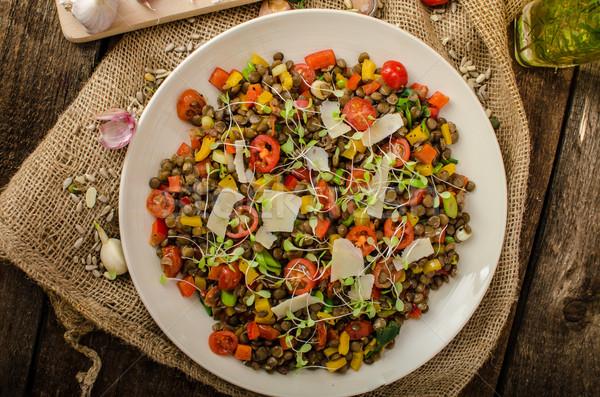 Caliente ensalada bio saludable dieta saludable Foto stock © Peteer