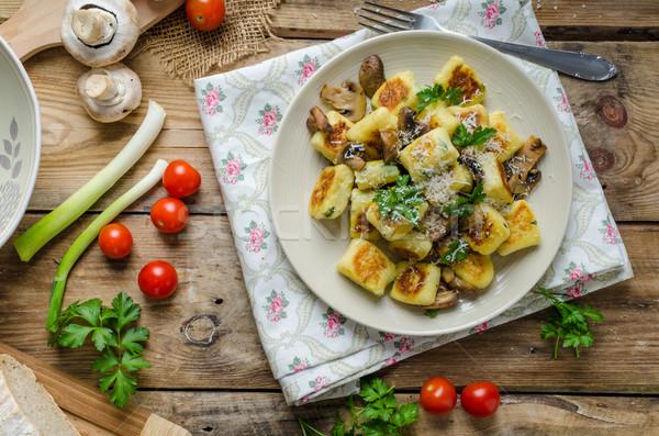 Crispy fried gnocchi Stock photo © Peteer